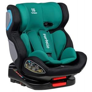 Автокресло детское Farfello GM0932 ISOFIX черный/мятный (black/green) GM0932-bm