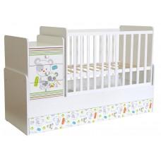 Кроватка детская Polini kids Simple 1100 Панды, белый