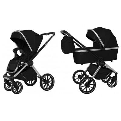 Детская коляска 2 в 1 CARRELLO CRL-6503 Optima Leather Black