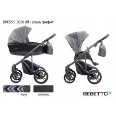 Коляска 2 в 1 Bebetto Bresso 2020 (экокожа+ткань) 25/рама графит