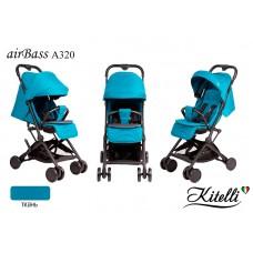 Коляска прогулочная Kitelli airBass А320 голубой (черная рама)