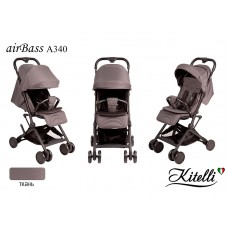 Коляска прогулочная Kitelli airBass А340 серо-коричневый (черная рама)