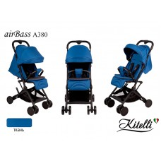 Коляска прогулочная Kitelli airBass А380 синий (черная рама)