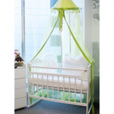 Кровать детская 01 колесо-качалка съемная боковая стенка слоновая кость