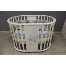 Кроватка детская Incanto 9 в 1 Морячки, белый