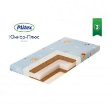 PLITEX Матрас в кроватку ЮНИОР ПЛЮС КОКОС (119х60х12см) ЮС-119-03