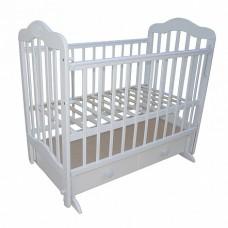 Кровать детская 03 маятник универс маят с ящиком с накладкой белый