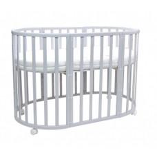 Кроватка детская Everflo Allure 7 в 1 с маятником gray ES-008