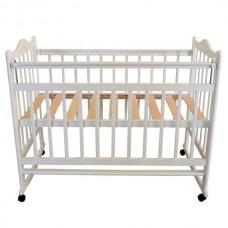 Кроватка Briciola 1 колесо-качалка авт. белая BR0101