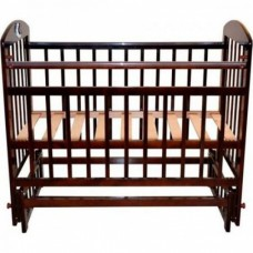 Кроватка Briciola 14 маятн.попереч. без ящ. темная BR1407