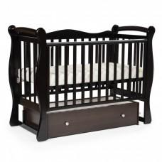 Детская кровать BEBIZARO JAMESON Маятник универсальный с ящиком WENGE