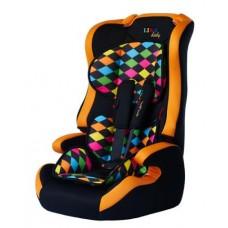 Автокресло Liko Baby LB-513 С, цветной ромб/оранжевый