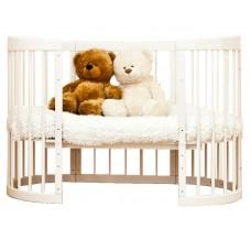 Кроватка-трансформер 8 в 1 Паулина С-322, слоновая кость