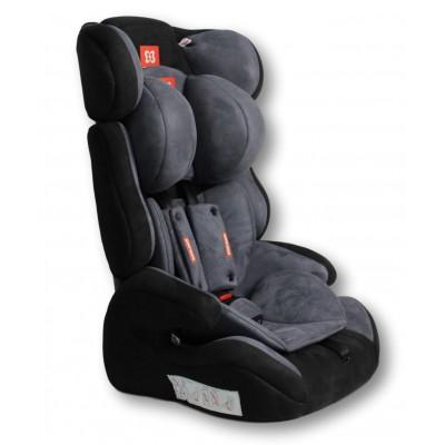 Автокресло детское Farfello GE-E велюр чёрно-серое (dark grey+black(velvet))