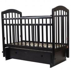 """Кровать детская (арт. 30) 120*60  """"ЛИРА""""-7 универ.маятн/ящ венге"""