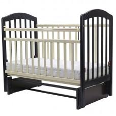 """Кровать детская (арт. 32) 120*60  """"ЛИРА""""-5 универ.маятн/без ящ.(венге/слоновая кость)"""