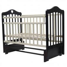 """Кровать детская (арт. 37) 119*60  """"ОЛИВИЯ""""-5 универ.маятн/без ящ. с сердечком (венге/сл.кость)"""