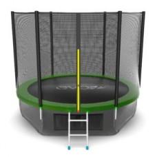 Батут с внешней сеткой и лестницей, диаметр 10ft (зеленый) + нижняя сеть серия EXTERNAL