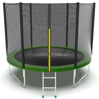 Батут с внешней сеткой и лестницей, диаметр 10ft (зеленый) серия EXTERNAL