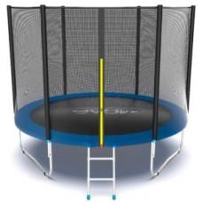Батут с внешней сеткой и лестницей, диаметр 10ft (синий) серия EXTERNAL