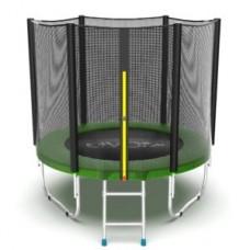 Батут с внешней сеткой и лестницей, диаметр 6ft (зеленый) серия EXTERNAL