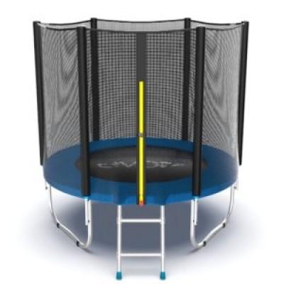 Батут с внешней сеткой и лестницей, диаметр 6ft (синий) серия EXTERNAL