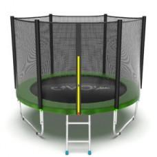 Батут с внешней сеткой и лестницей, диаметр 8ft (зеленый) серия EXTERNAL