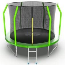 Батут с внутренней сеткой и лестницей, диаметр 10ft (зеленый) серия COSMO
