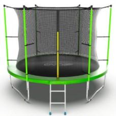 Батут с внутренней сеткой и лестницей, диаметр 10ft (зеленый) серия INTERNAL