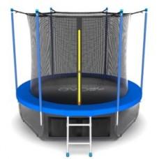 Батут с внутренней сеткой и лестницей, диаметр 10ft (синий) + нижняя сеть серия INTERNAL