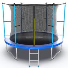 Батут с внутренней сеткой и лестницей, диаметр 10ft (синий) серия INTERNAL