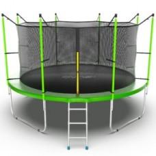 Батут с внутренней сеткой и лестницей, диаметр 12ft (зеленый) серия INTERNAL