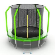Батут с внутренней сеткой и лестницей, диаметр 8ft (зеленый) серия COSMO