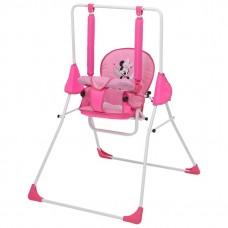 Качели Polini kids Disney baby Минни Маус, с вышивкой, розовый