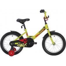 """Велосипед NOVATRACK 12"""" TWIST салатовый, тормоз нож., корот.крылья, полная защита цепи"""