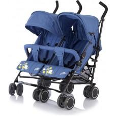 Baby Care, Коляска для двойни City Twin (трость) (Синий (Blue))