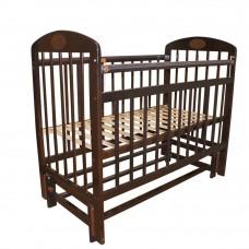 Кровать детская 09 маятник универсальный с накладкой Темный