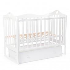 Детская кровать BEBIZARO JAMESON «HEART» Маятник универсальный с ящиком WHITE