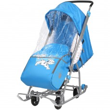 "Санки-коляска ""Disney-baby 1"" (Disney 101, Долматинец, голубой)"
