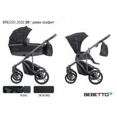 Коляска 2 в 1 Bebetto Bresso 2020 (экокожа+ткань) 20/рама графит