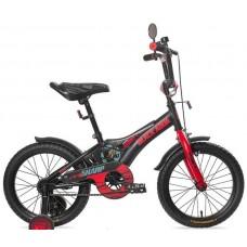"""Велосипед Black Aqua Sharp 18"""" 1s 2017 со светящимися колесами, черно-красный"""