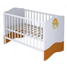 Кроватка детская Polini kids Basic Джунгли 140х70 белый-оранжевый