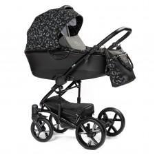 Детская коляска 2 в 1 BEBIZARO CROSS BLACK STELS BZCR/08