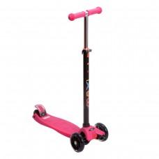 Самокат MAXI LED pink