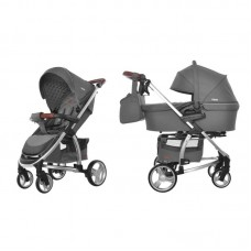 Детская коляска 2 в 1 CARRELLO Vista CRL-6501 Steel Grey