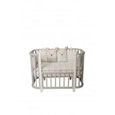 Кроватка детская Incanto Nuvola 3 в 1 цвет серый/белый