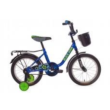 Велосипед BlackAqua 1604 с корзиной, синий
