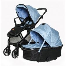 Коляска детская 2в1 ТМ BabyZz, голубая