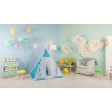 Палатка-вигвам детская Polini kids Зигзаг, голубой