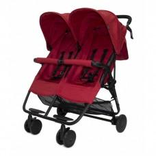 Прогулочная коляска для двойни Cozy Smart Red Melange